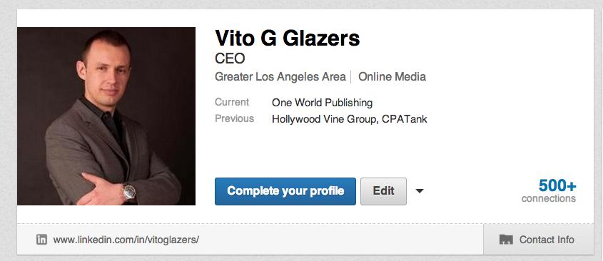 Add me to your network on linkedin.com/in/vitoglazers